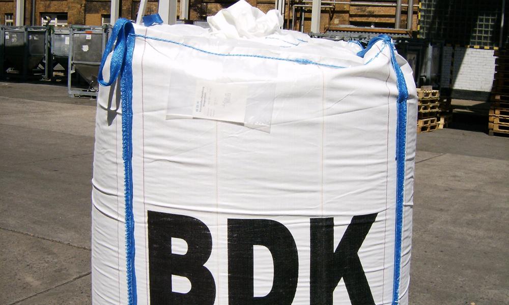 PVC-Komponenten in Big Bag verpackt