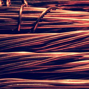 Nahaufnahme von gebündeltem Kupferdraht