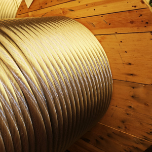 Aluminiumstahlseil auf Holztrommel